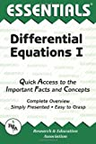 Differential Equations I Essentials, Research & Education Association Editors, 0878915818