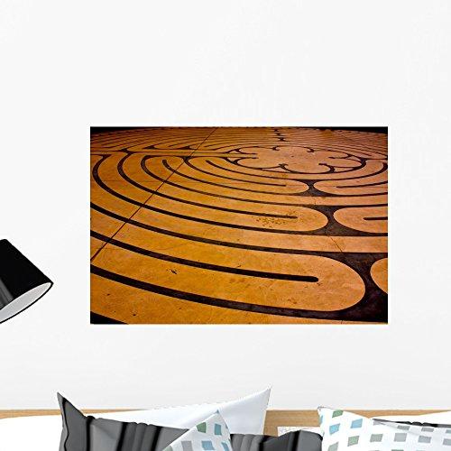 Wallmonkeys Prayer Labyrinth Peel and Stick Wall Decals W...