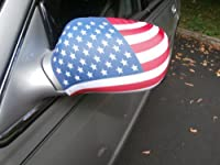 Car Side Mirror Cover in American Flag Theme