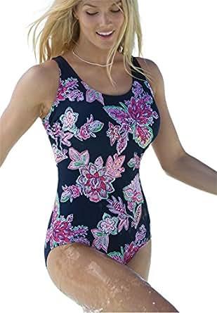 Amazon.com: Swim 365 Women's Plus Size Swimsuit, Perfect