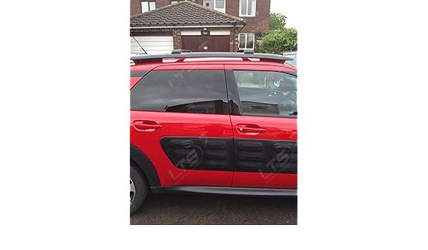 Barras de techo transversales bloqueables negras para Citroën C4 ...