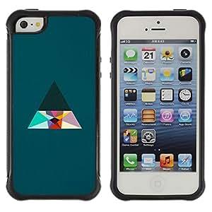Híbridos estuche rígido plástico de protección con soporte para el Apple iPhone 5 / 5S - triangle minimalist clean aesthetic