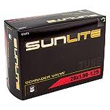 Sunlite Standard Schrader Valve Tubes, 26 x 1.00 - 1.25' / 32mm Valve, Black