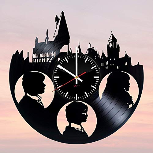 Harry Potter Fantasy Handmade Vinyl Record Wall Clock - Get unique bedroom or nursery wall decor - Gift ideas for boys and girls – Fantasy Movie Unique Modern -