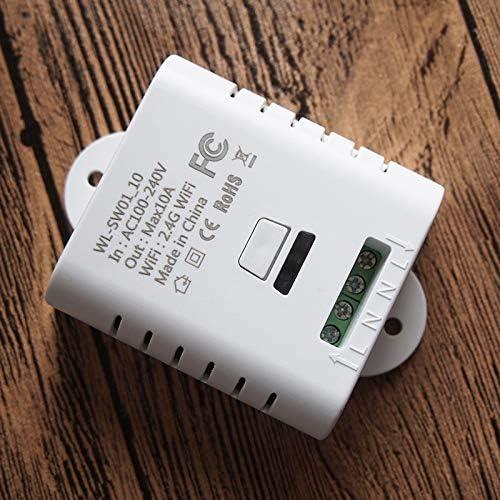 Mando a distancia inal/ámbrico de la aplicaci/ón Tuya Smart Life compatible con Alexa Ifttt Goog le Home Kamenda Smart Switch Relay 10A