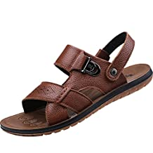 Agowoo Mens Open Toe Casual Beach Walking Sandals