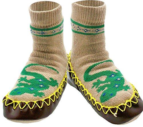 Konfetti Leapin' Lizards Gecko Kids Swedish Moccasins House Slippers ()