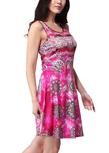 RUIYIGE - Vestido - para mujer Rosso