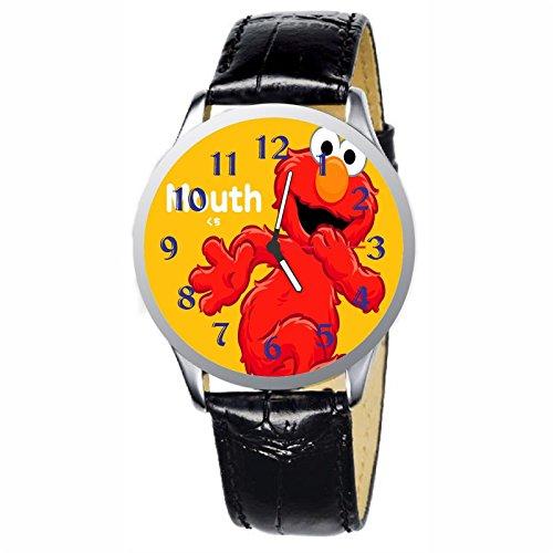 (LCW068-2 New Sesame Street Elmo Stainless Wristwatch Wrist Watch)