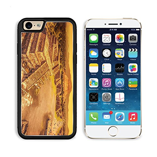 (MSD Premium Apple iPhone 6 iPhone 6S Aluminum Backplate Bumper Snap Case IMAGE ID 20243961 Pyramids of the Sun and Moon on the Avenue of the Dead Teotihuacan ancient historic cultural city o)