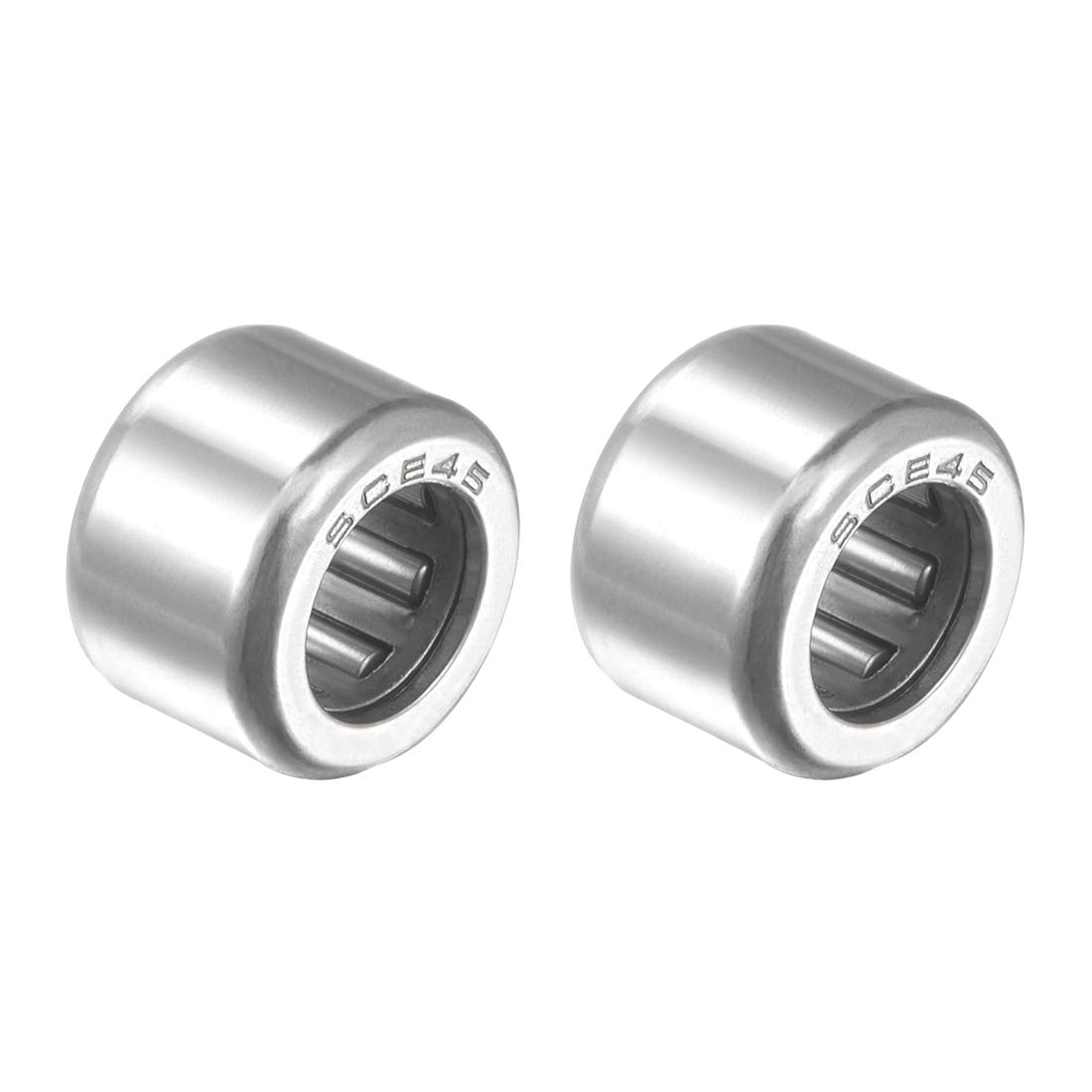 Drawn Cup Open End uxcell SCE45 Needle Roller Bearings 1//4-inch Bore 7//16-inch OD 5//16-inch Width 2500N Static Load 2090N Dynamic Load