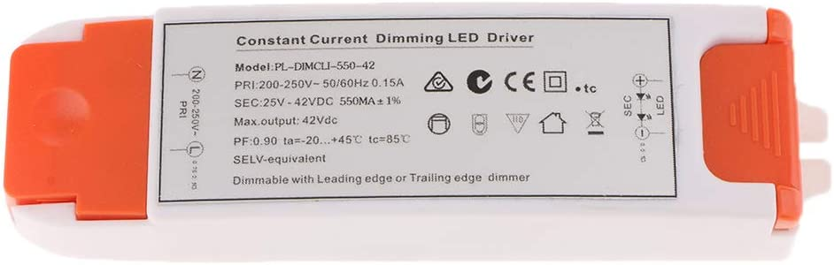 Fuente De Alimentaci/ón Regulable SCR Led Driver Para Luces De Techo DC 25-42V 550mA