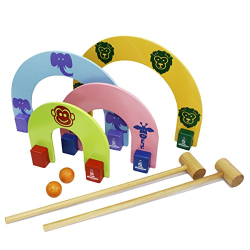Shumee Wooden Jungle Croquet Toy Set (3 Years+) – Social & Strategy Skills