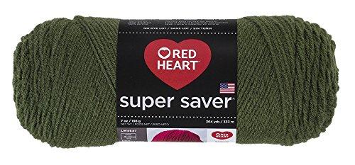 Red HeartSuper Saver Yarn, Medium (Red Medium Weight)
