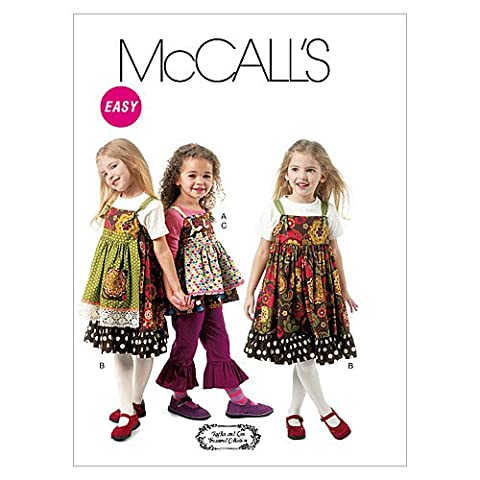 McCall's Patterns M6387 Children's/Girls' Top, Jumpers, Detachable Aprons and Pants, Size CL (6-7-8)