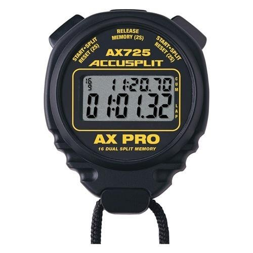 ACCUSPLIT A725MXT Professional Stopwatch, 16 Memory by ACCUSPLIT
