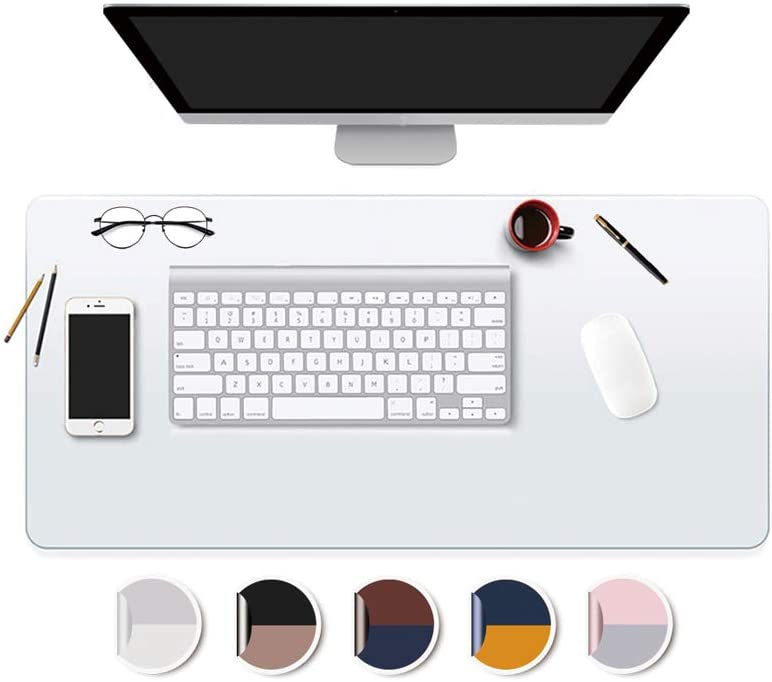Office Desk Blotter Pad Clear Mats Table Protector PVC Writing Mat Plastic Desk Overlay for Laptop Computer Desktop Keyboard Pads Vinyl Wipeable Waterproof Home with Mouse Pad Mat Extra Large 24x48