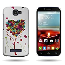 CoverON® for Alcatel One Touch Fierce 2 / Pop Icon Hard Design Case [Slender Fit Series] Slim Polycarbonate Back Phone Cover - ( Butterfly Heart )