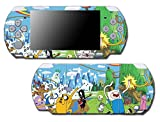 Adventure Time Jake Finn Princess Bubblegum Marceline Video Game Vinyl Decal Skin Sticker Cover for Sony PSP Playstation Portable Slim 3000 Series System