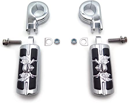 1 1//4 Frame Highway Foot Pegs Rest For Harley Honda Suzuki Touring Electra Rode King Street Guide Shadow Goldwing