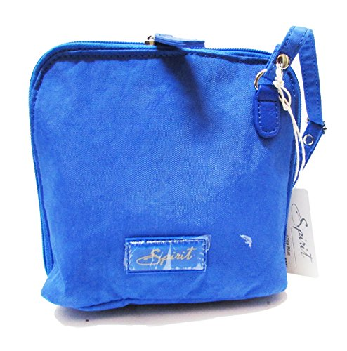 Spirit - Bolso cruzados de nailon para mujer azul azul