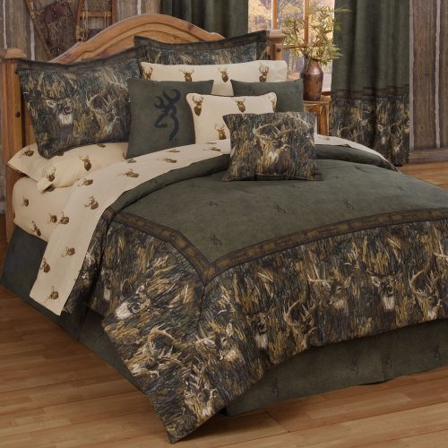 Bag Comforter Ensemble - Browning Whitetails Queen Bed in a Bag 8 Piece Comforter Set