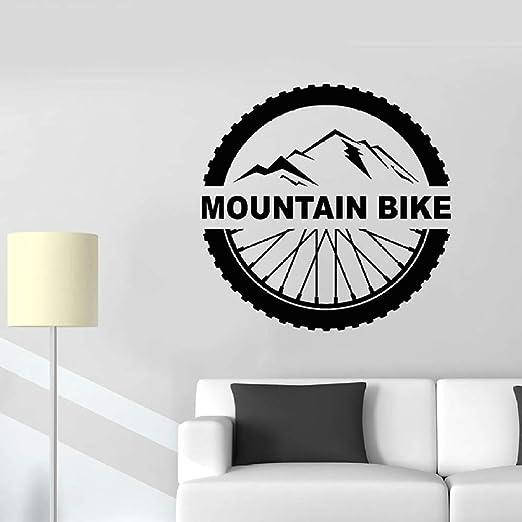 Mountain Bike Tatuajes de Pared Letras Deportes Extremos Rueda de ...