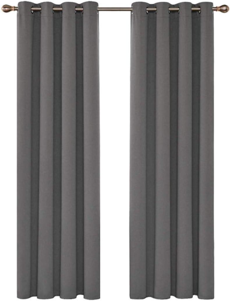 Lichtundurchl/ässige Vorhang mit /Ösen f/ür Schlafzimmer Ger/äuschreduzierung 2er Set Gr/ö/ße:2 x B75 x H166cm ZFSZSD Verdunkelungsvorhang /ösen Wei/ß /& Kreis Blickdichte Gardinen