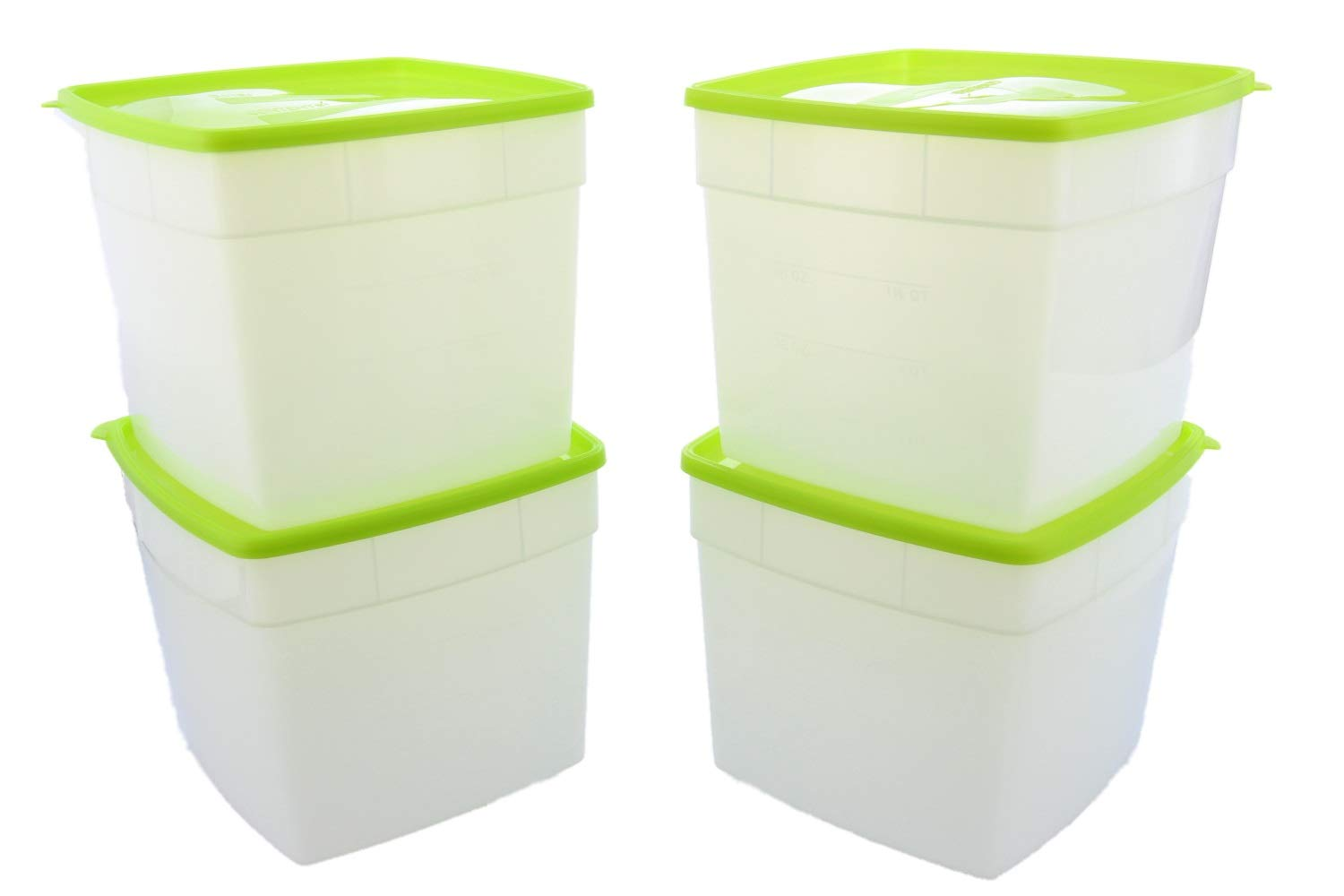 Arrow Reusable Plastic Storage Container Set, 4 Pack, 0.5 Gallon – Food, Meal Prep and Leftovers – Freeze, store, Reheat - Clear Container Set With Lids – BPA-Free, Dishwasher and Microwave Safe