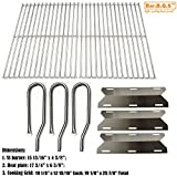 Bar.b.q.s Replacement Jenn Air Gas Grill 720-0336 Gas Grill Burner,Heat Plate,Cooking grid(Stainless Steel Burner + Stainless Steel Heat Plate + Solid Stainless Steel Cooking Grid)