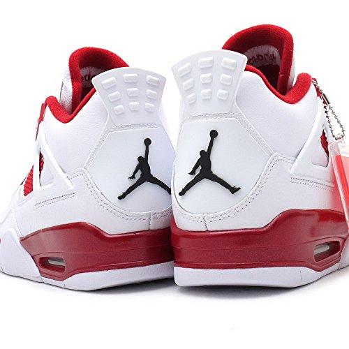 Air Jordan 4 Retro Heren Sneakers 308497-106 Wit / Gym Rood // Zwart