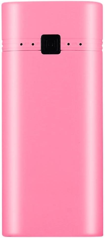 squarex 5600 mAh 5 V USB Power Bank Caso 18650 Cargador de batería DIY Caja para teléfono Celular, Rosa: Amazon.es: Deportes y aire libre
