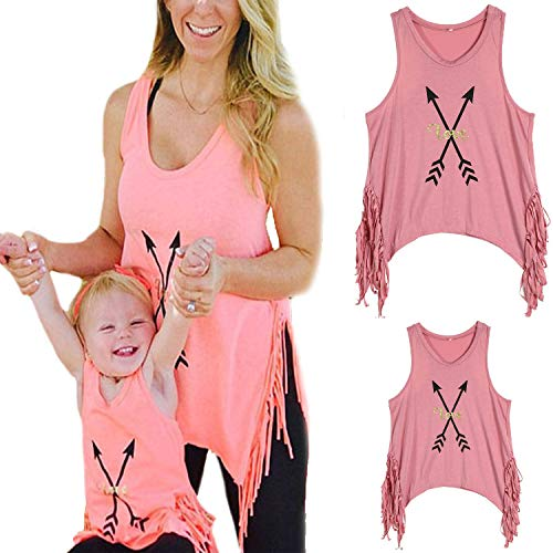 WIFORNT Mommy and Me Matching Letter Print Tank Top...
