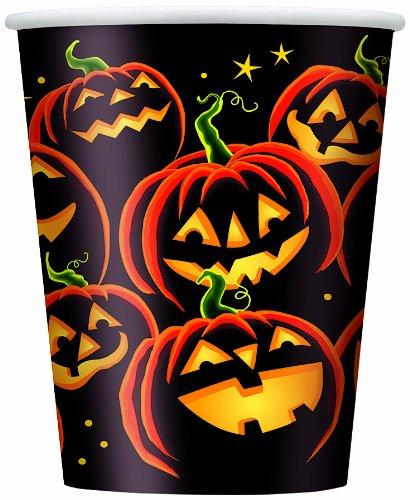 9oz Pumpkin Grin Halloween Party Cups, 8ct