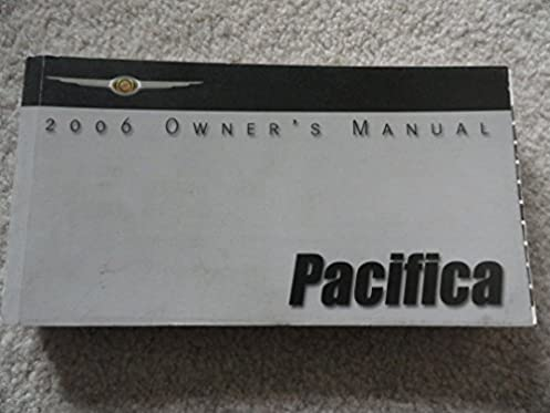 2006 chrysler pacifica owners manual chrysler amazon com books rh amazon com 2006 pacifica service manual 2006 chrysler pacifica owners manual