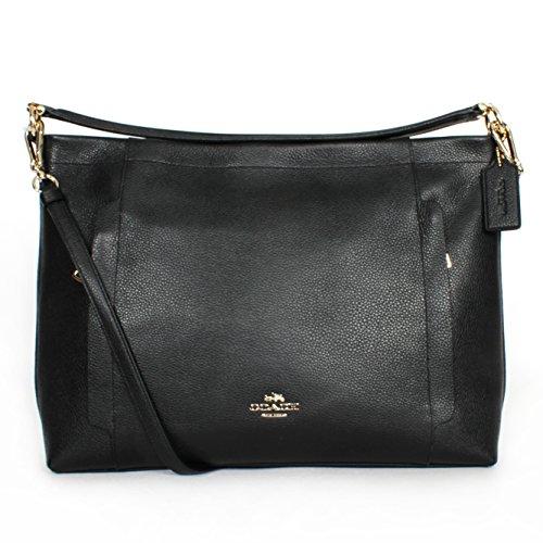 Coach 34312 Scout Pebbled Leather Hobo Handbag, black