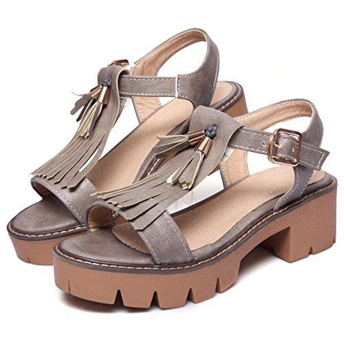Sandales Ete Femmes gray JOJONUNU Plateforme XSv6nxwB