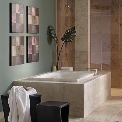 American Standard 2771vc 020 Evolution 5 Feet By 36 Inch Deep Soak Whirlpool Bath Tub With Everclean And Hydro Massage System I White Drop In Bathtubs Amazon Com