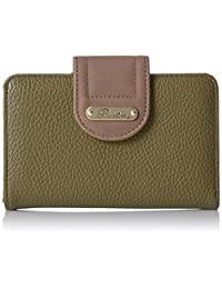Buxton Touch of Suede Medium Tab Wallet, Four Leaf Clover/Coconut