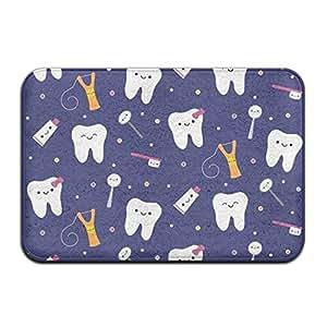 """Cute dientes lavable decorar memoria espuma interior 15,7""""W? 23.6"""" L protección rectangular crural alfombrilla Felpudo"""