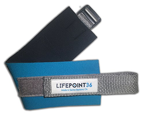 Lifepoint36 Acupressure Leg Bands for Digestive Health and Overall Vitality - M/L Teal - from LIFEPOINT36