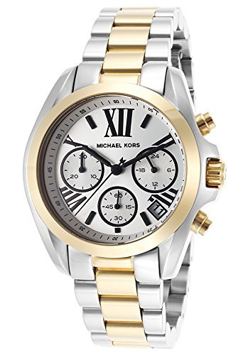 Michael Kors Women's Mini Brandshaw Watch, Gold/Silver, One Size