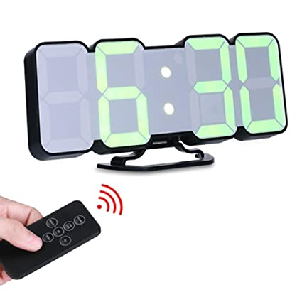 Shuangklei 3D Led Reloj De Pared Digital Voice Control Tabla Electrónica Relojes De Pared Reloj Nixie