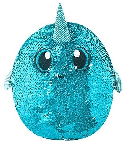 amazon com shimmeez medium plush 8 arlo the narwhal toys games
