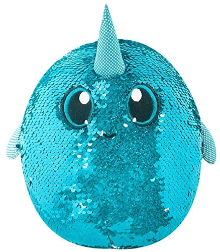 Shimmeez Medium Plush, 8'' (Arlo the Narwhal)