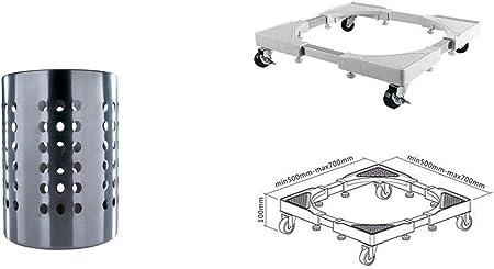 I Conny Clever Ikea Rangement Avec Support En Acier Inoxydable Et Roulettes De Transport Pour Machine A Laver Seche Linge Et Autres Appareils De 200 Kg Amazon Fr Cuisine Maison
