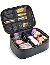 Lifewit Travel Makeup Train Case Makeup Cosmetic Case Organizer Portable Artist Storage Bag with Adjustable Dividers for Cosmetics Makeup Brushes Toiletry Jewelry Digital Accessories Black