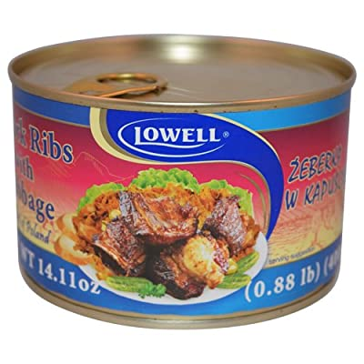 Lowell Foods Canned Pork Ribs with Cabbage 400g