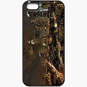 Protective Case Back Cover For iPhone 5 5S Case Form Picture Nice Unusual Wallpaper Black