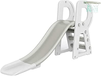 PNYGJQ Escalador Deportivo y tobogán for niños Tobogán for niños pequeños de Interior combinación de Almacenamiento de Canasta con Escalera Deslizante Juego de Juegos for niños pequeños al Aire Libre: Amazon.es: Deportes